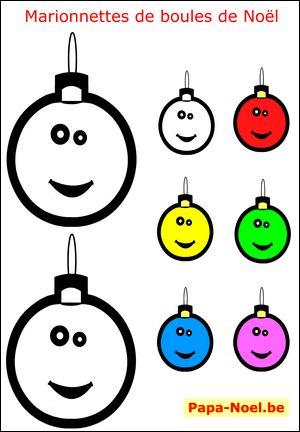 Bricolage de Noël pour enfant bricolages NOEL enfants fabrication marionnette de boule de NOEL