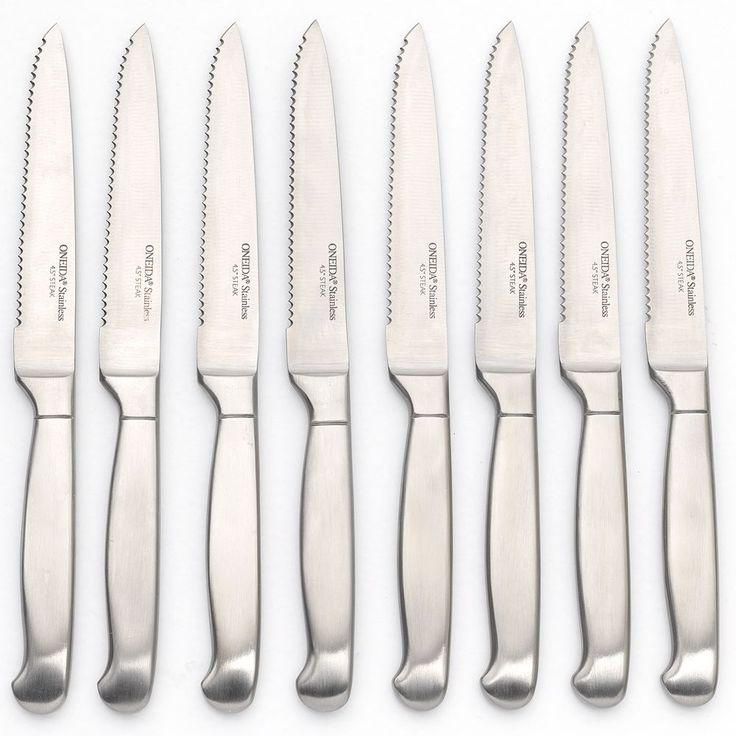 Oneida 8-pc. Stainless Steel Knife Set, Silver