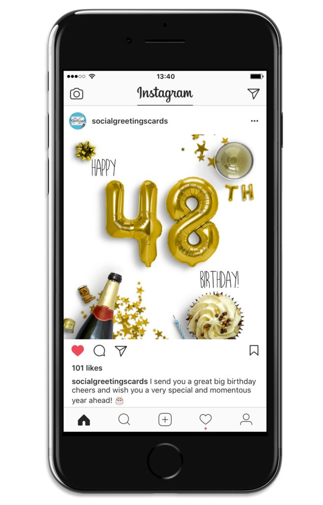 7 best 48th birthday social greetings cards images on pinterest 48th birthday card gold social greetings cards m4hsunfo