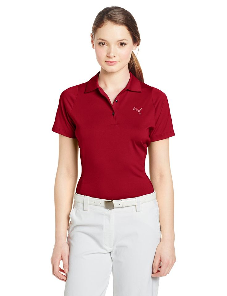 Offering UV protection UPF 30+ this womens NA duo swing golf polo shirt by Puma will ensure you stay well protected from the elements