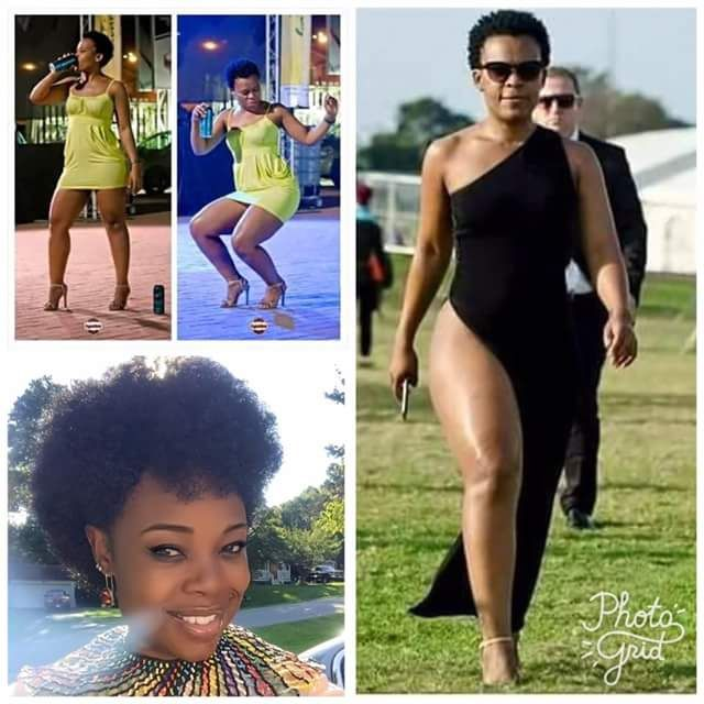 """""""Take them nickers off for a change and feel the freedom"""" - Woman channels Zodwa Wabantu steps out without underwear  Facebook user Rutendo Samas posted these photos earlier this month in support of South African socialite Zodwa Wabantu who is popular for wearing dresses with underwear.  """"Today was Zodwa Libram Libram day at my house. Got to love being free and liberated Ladies take them nickers off for a change and feel the freedom. I love Zodwa"""" she captioned the photos."""