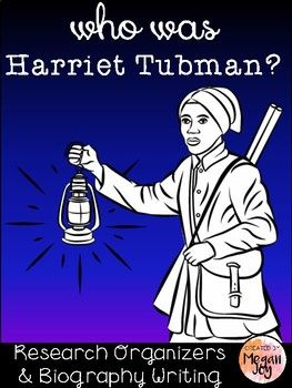 Harriet Tubman Biography Research Packet Table of Contents: *Harriet Tubman Biography Reading Passage *2-page Research Organizer *Biography Writing Paper *Writing Extension