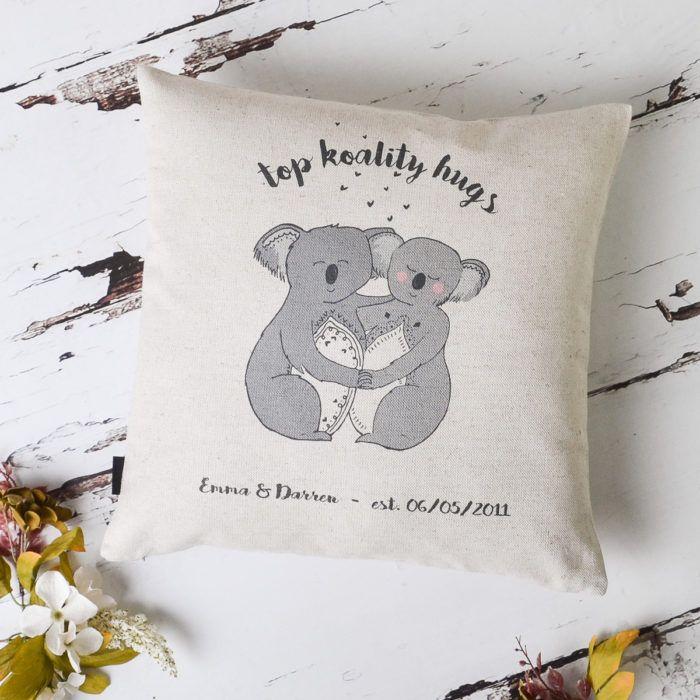 Top Koality Hugs Koala Couple Cushion Cover