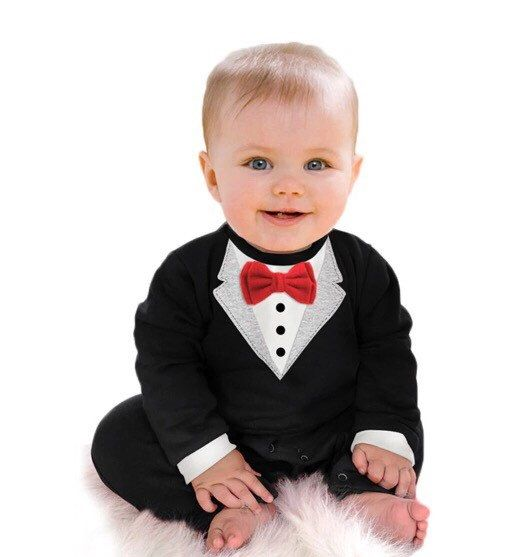 Baby Toddler Tuxedo Romper Onesie Bodysuit. Party Animal. Christmas Gift fancy baby classy preppy dressed up holiday winter autumn fall long by LaughingBoutique on Etsy https://www.etsy.com/listing/475513143/baby-toddler-tuxedo-romper-onesie