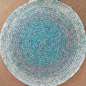 How to Crochet a Round Rag Rug/ FREE CROCHET pattern / beautiful design & colours!