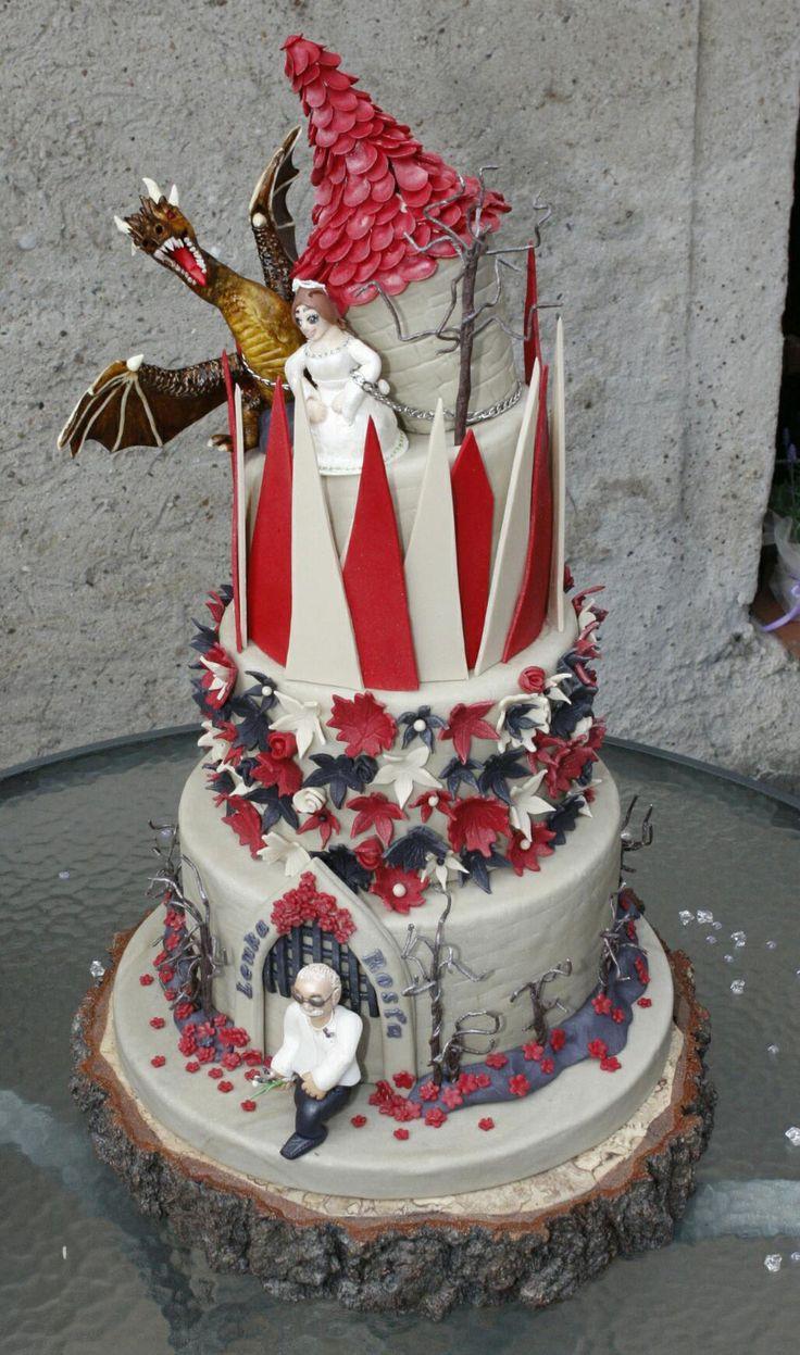 Wedding cake Dragon Castle 16kg Svatební dort Dračí hrad