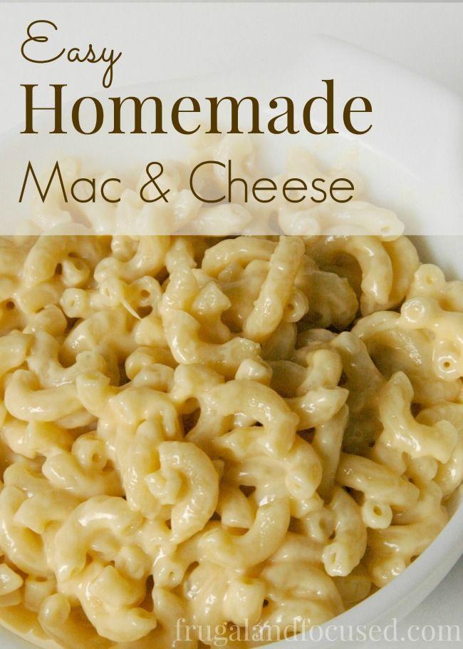 Easy Homemade Macaroni and Cheese | Recipe | Homemade, The box and The ...