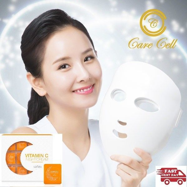 CARE CELL LED FACIAL MASK 120 LEDs Therapy Skin Care Tools 1 YEAR WARRANTY Korea #CARECELL