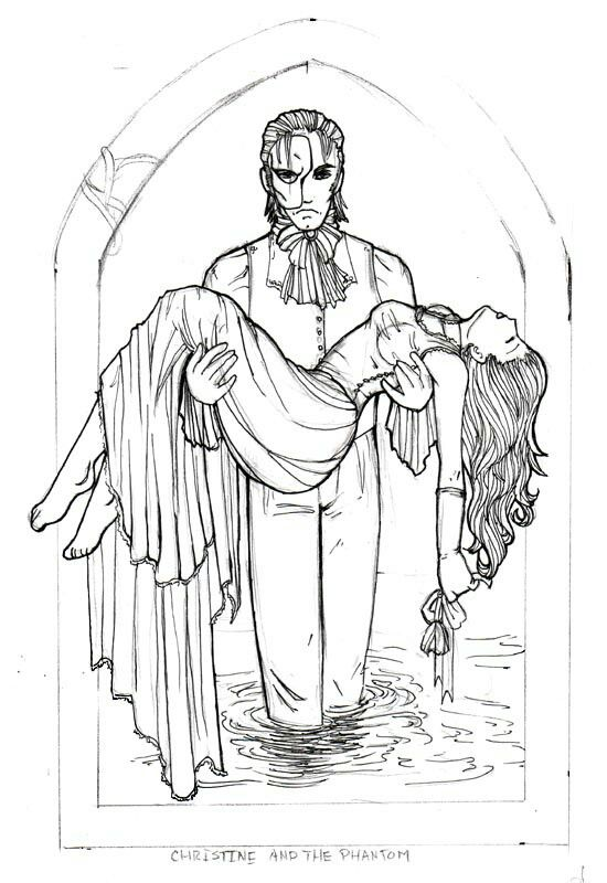 782 best phantom of the opera images on pinterest for Les miserables coloring pages