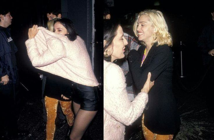 """Madonna with Maripol and Tony Ward on 19 September, 1990 at La Palace De Beaute. Maripol: """"Madonna is a child woman. She is vulnerable, then she is not. She'll survive anything."""""""