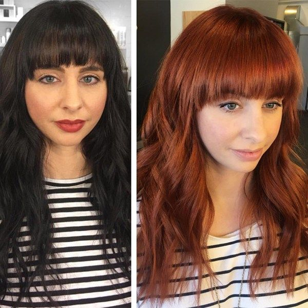From Almost Black To Rich Red Haircolor Transformation Behindthechair Com Red Hair Formulas Hair Color Formulas Joico Hair Color