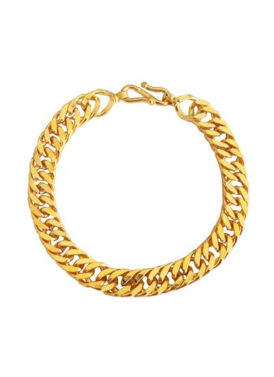 Imported Men's Jewellery Gold 'Simple But Classic' Link Chain Design Bracelet For Men Rs. 200/- gift for him,gifts for him india,gift ideas for men birthday,,best gifts for boyfriends,gift ideas for men who have everything,romantic gifts for men, best gifts for husband,mens fashion ,mens style , classy gift,mens gift ideas for birthday gifts for men ideas,www.menjewell.com