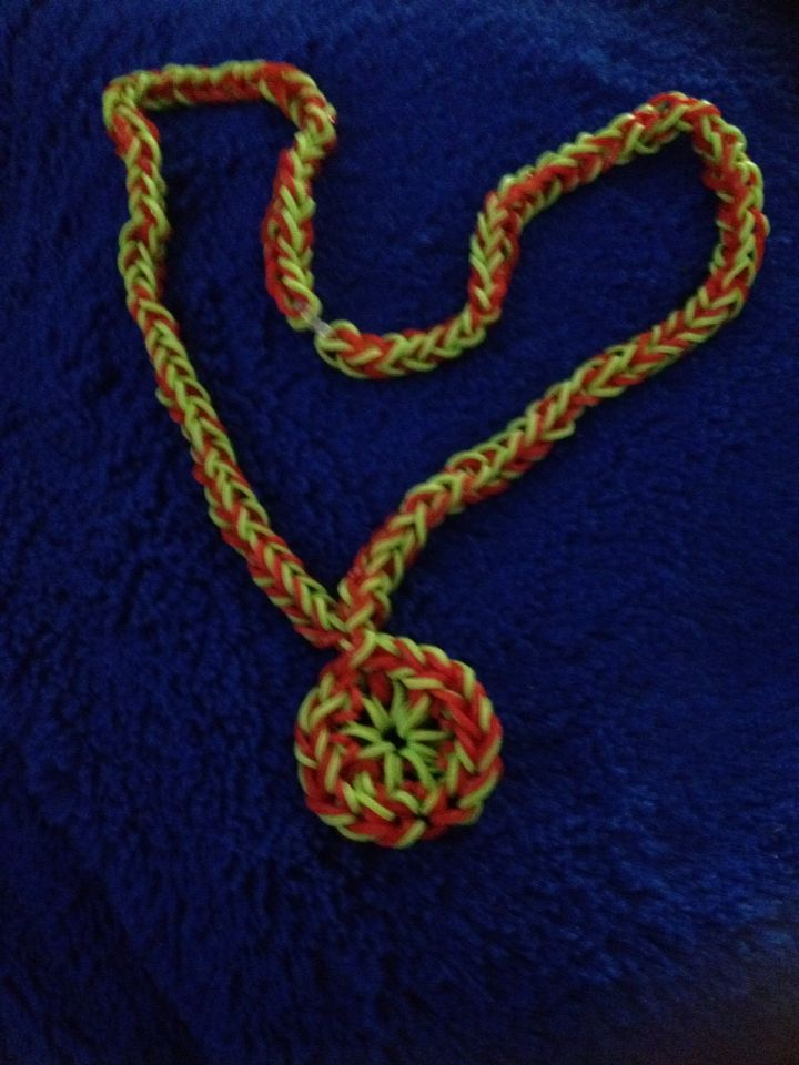 Christmas Wreath Necklace I made and designed - not from YouTube.