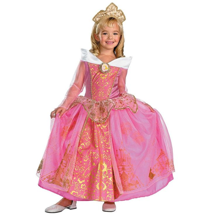 Disney Princess Aurora Costume - Toddler, Girl's, Size: 3T-4T, Multicolor