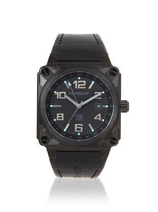 Torgoen Men's T26108 Classic Black/Blue Aviation Watch