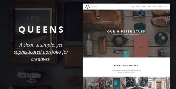 Queens Responsive Retina Parallax Joomla One-Page . This template is a responsive and retina-ready JOOMLA with grid system layout. Optimized for mobile touch and