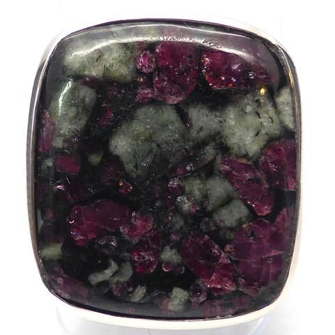 Eudialyte Crystal Ring I 925 Sterling Silver   US Size 7.5   Courage Spiritual Warrior   Aries   Crystal Heart Melbourne Australia since 1986