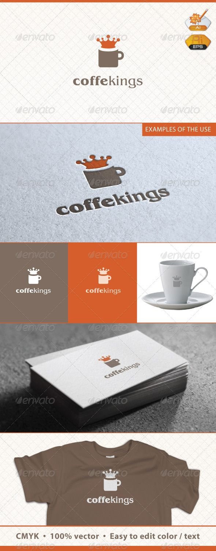 Coffe Kings Logo Template
