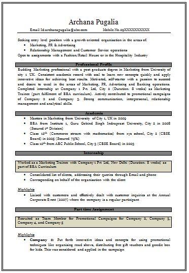 7981 best Resume Career termplate free images on Pinterest - sample mba resume