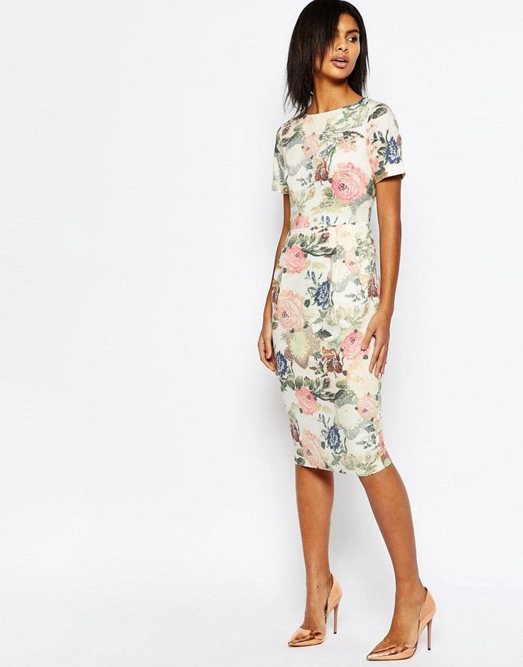 ASOS+Occasion+Floral+Wiggle+Dress