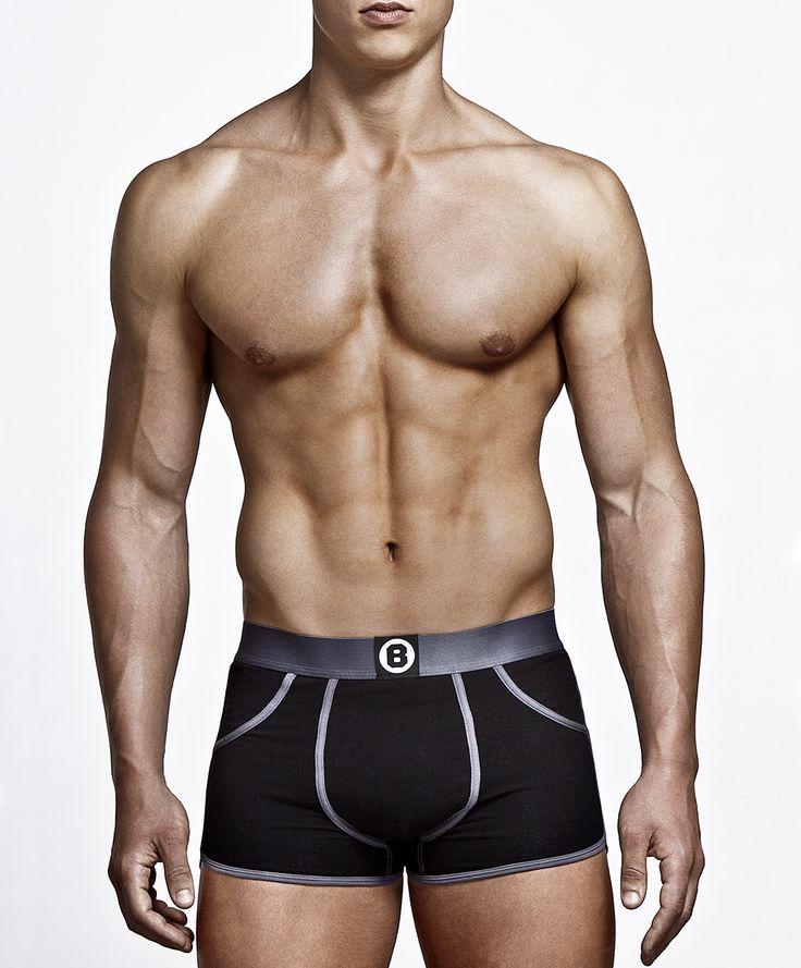 Stoere boxer van Bolas. 2-pack Onyx black. Orginele binnenzijde. Hoog draagcomfort, voor stoere mannnen.  € 35,00 http://www.silondergoedenlingerie.nl/merken/bolas.html
