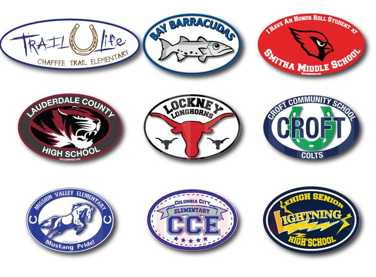 Best School Spirit Products Images On Pinterest - Custom oval car magnets   promote your brand