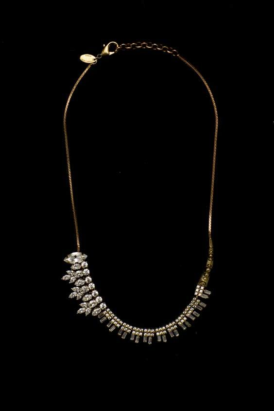 Studs and crystals necklace All That Jewels! #IOSSELLIANI
