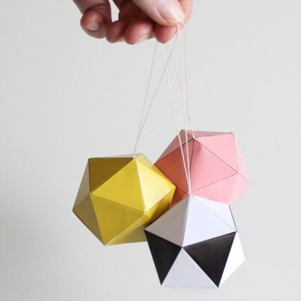DIY Christmas Paper Baubles by Snug - Southwood stores