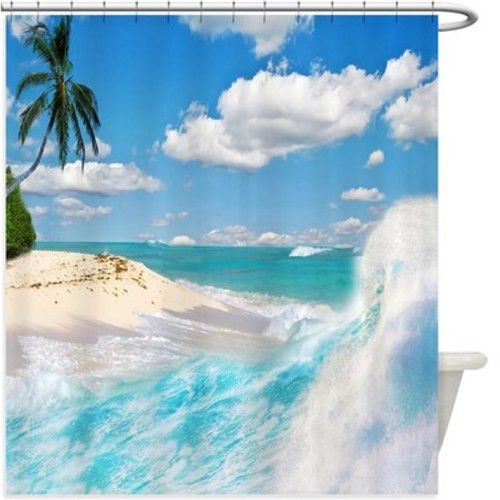 Beach Waves Shower Curtain 145R