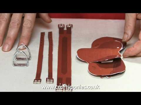 HOW TO MAKE the Crafty ponies SADDLE (part 2)  This video shows you how to complete your Crafty Ponies saddle.  This little saddle looks and works just like a real saddle!