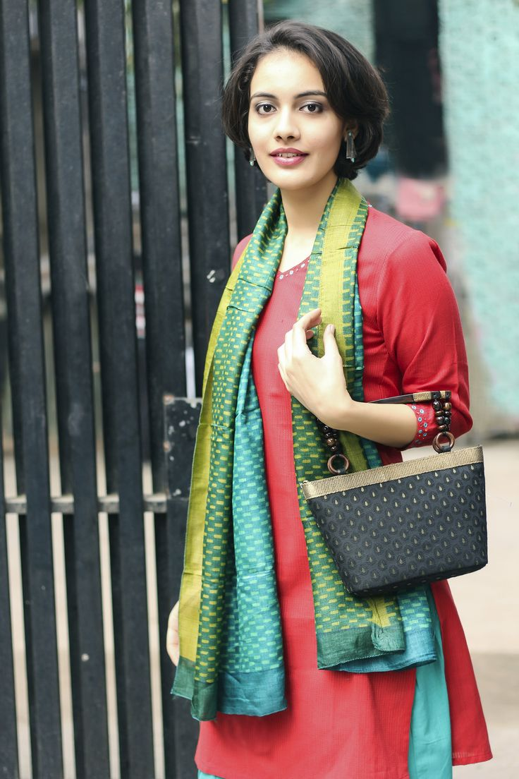 Bold and bright #cotton #kurta #red #green