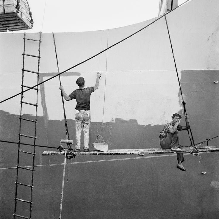 Nicolás Muller, Carénage du navire, Canaries, 1964.