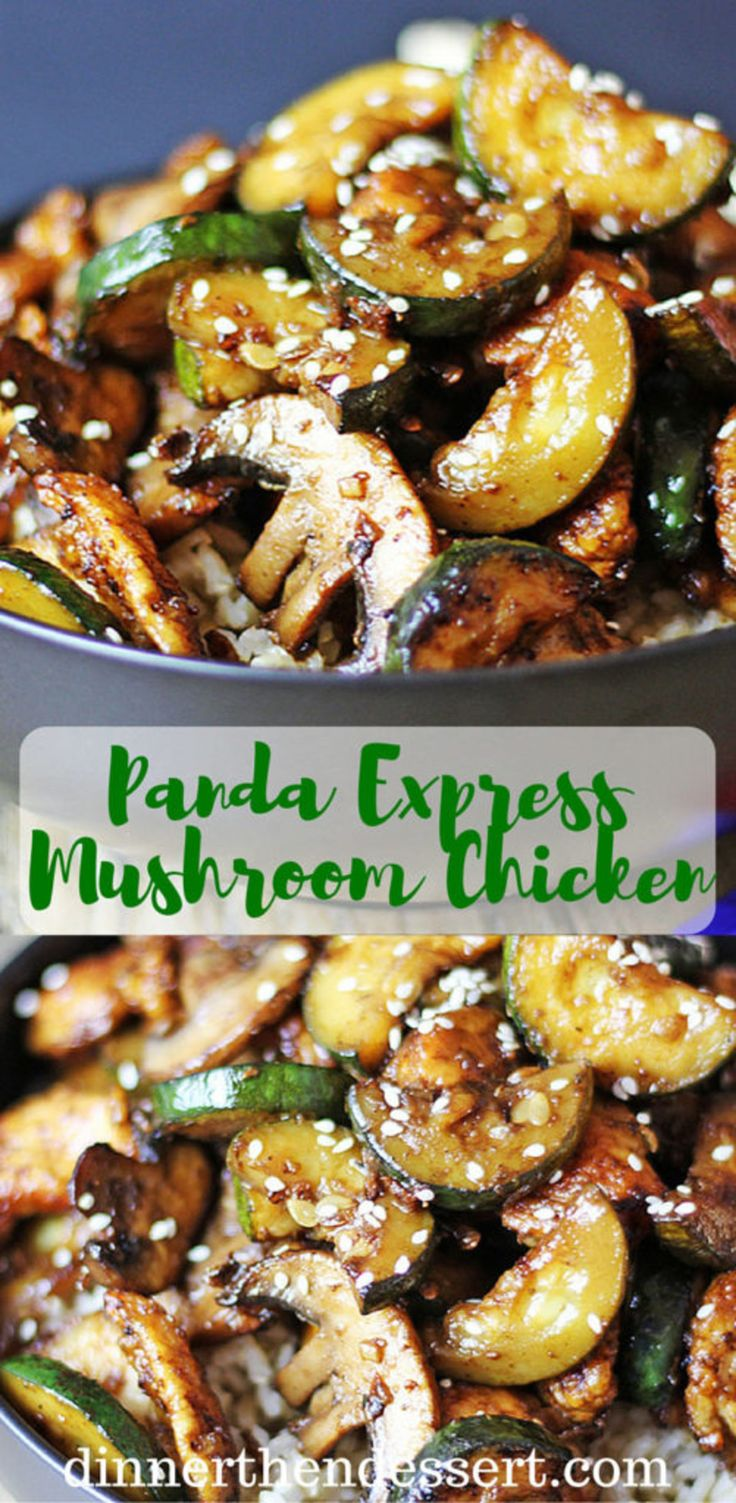 Panda Express Mushroom Chicken – Dinner and Dessert   – Food