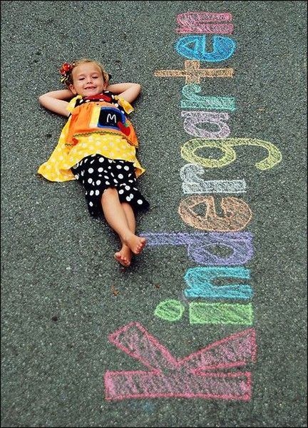 School Year in Chalk Photo Idea - First Day of School Traditions - Photos