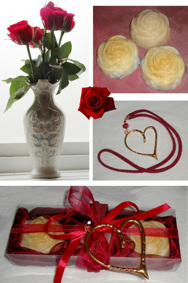 A spectacular gift box, with three cream Colour Luxury Royalty Scented Soaps - special scent of perfumed milk and citrus, and a lovely Gold & Red Handmade Heart Jewelry Necklace in the packaging. An awesome, very elegant, stylish gift for any occasion: Mothers Day, Valentine Day, Anniversary, Feast, Birthday, Party..... A special gift for your Wife, your Girlfriend, your Mother, your Daughter, a Friend. For any woman!