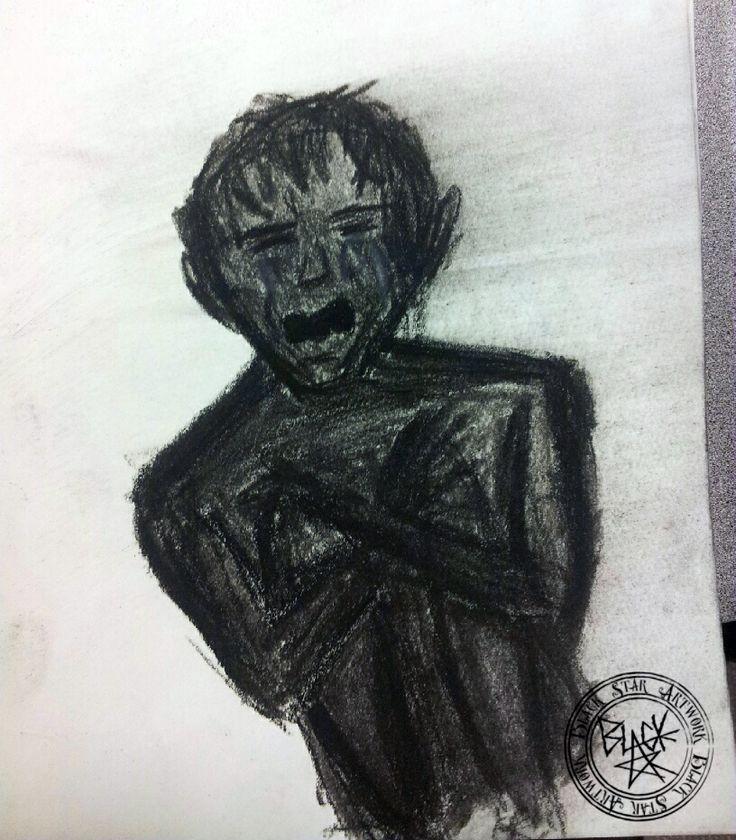 Bad Memories (1 of 2) Sketch 1 of 2 Conte on paper 2014 Black Star Artwork by Leonard Walsh  www.facebook.com/BlackStarArtwork http://bit.ly/1bCN2xI
