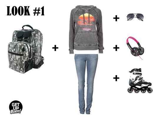 Complementá nuestra mochila para Rollers con un casual look. Skater style
