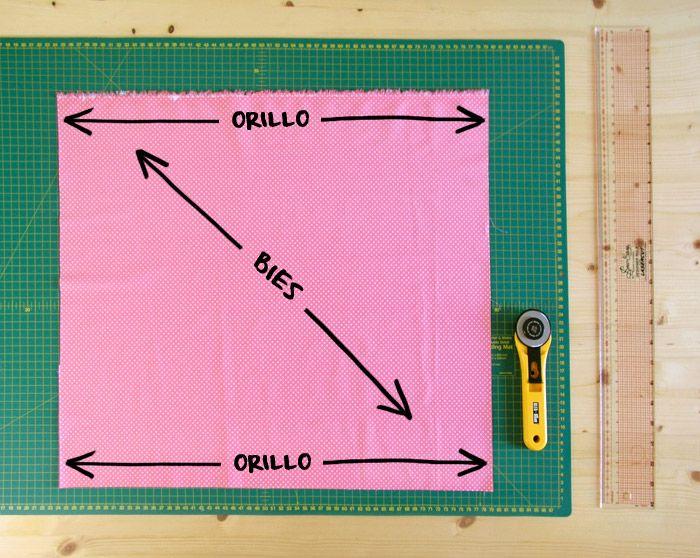 Preparar tejido para cortar tiras al bies   Betsy Costura
