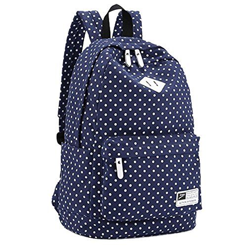 Sealike Lightweight Casual Daypack Backpack for College Bookbag for Women Girls School Bags Female College Students Storm Dot Schoolbag (Navy Blue) Sealike http://smile.amazon.com/dp/B00MRLHFAS/ref=cm_sw_r_pi_dp_mMhOvb1KNHNKW