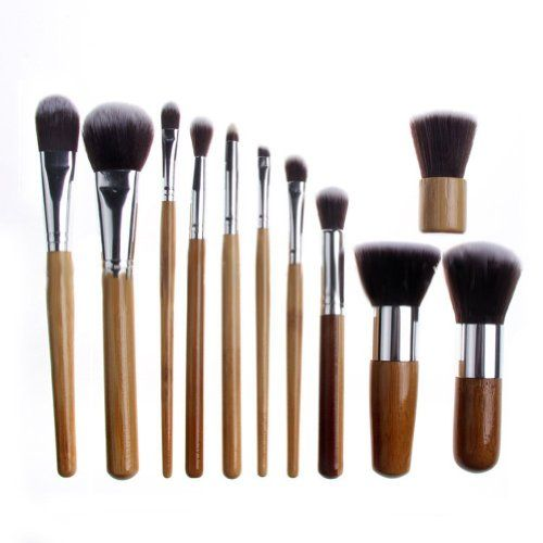Crazycity Professional Cosmetic Makeup Brush Set with Bag (11pcs)