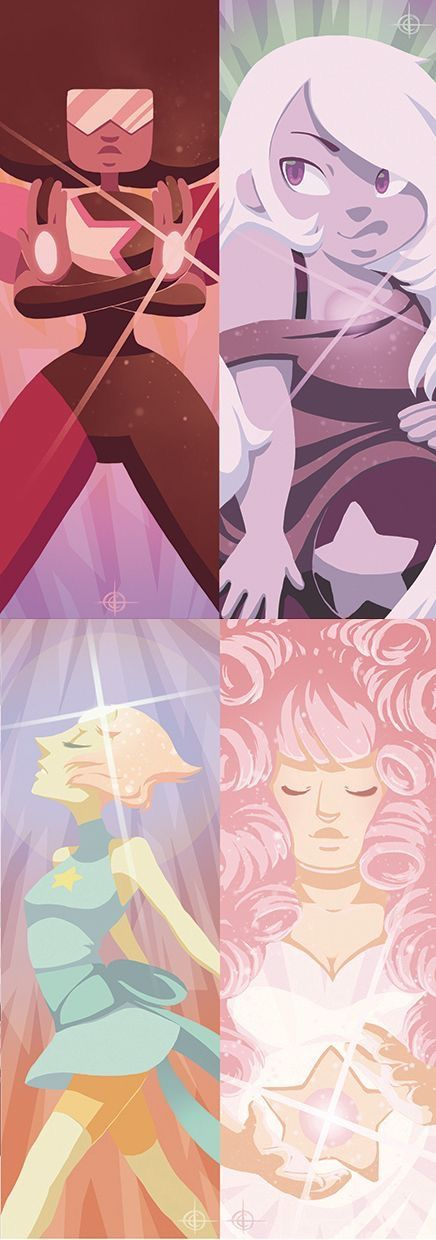 Steven Universe - Garnet, Amethyst, Pearl, and Rose Quartz