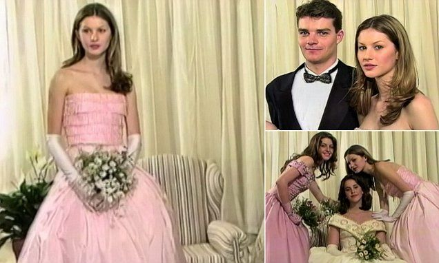 Gisele Bundchen, aged 15, dazzled the crowd at her debutante ball