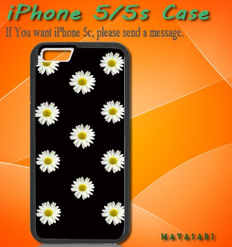 "Little Daisy Print on Hard Plastic For iPhone 5/5S Case, Black Case  This case is available for: iPhone 4/4S iPhone 5/5S iPhone 6 4.7"" screen Samsung Galaxy S4 Samsung Galaxy S5 iPod 4 iPod 5  Please"