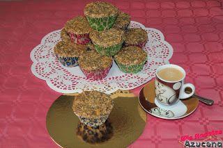 Muffins de melocoton y avena