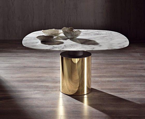 MODERN FURNITURE | gold and marble dining table | bocadolobo.com/ #luxuryfurniture #designfurniture