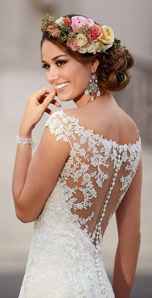688 besten Braut Frisuren Bilder auf Pinterest | Bräute, Frau und ...