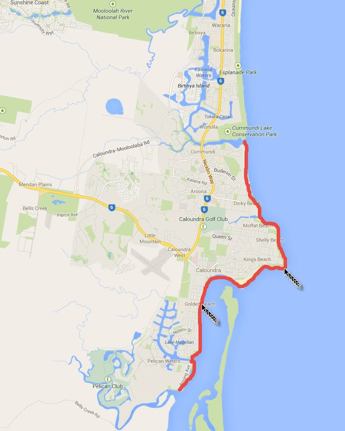 Caloundra coastal walk via 2 Aussie Travellers