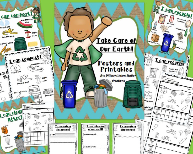 take care of our earth compost trash recycle posters printables science math tally. Black Bedroom Furniture Sets. Home Design Ideas