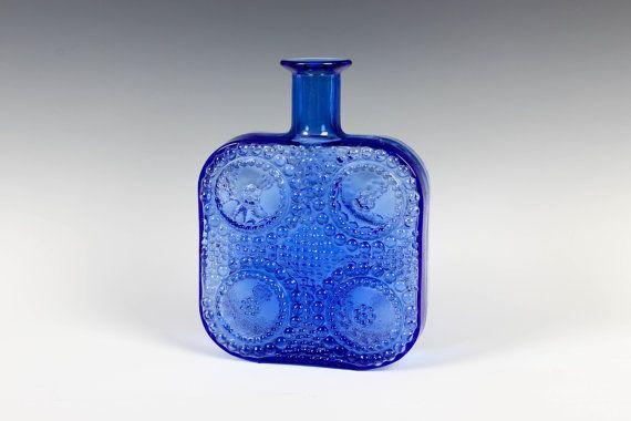 Blue Nanny Still Grapponia Bottle Riihimäen Lasi $110.00 at ThePapers