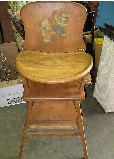 Antique Lehman Baby Guard Wood High Chair antique wooden high chair with  cowboy motif applique sticker - Best 25+ Antique High Chairs Ideas On Pinterest Vintage High